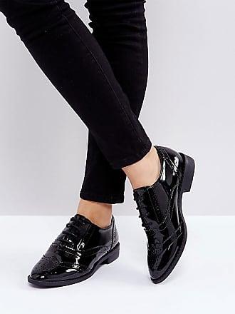 Manic Noir Chaussures Plates Asos Richelieu pqfTwxf