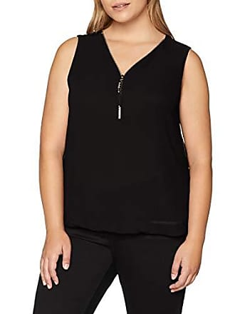 black Blusa 50 Para Mela 22 Fabricante Negro Mujer Two talla Sleeveless Zip Del Blouse SHHZ8qC