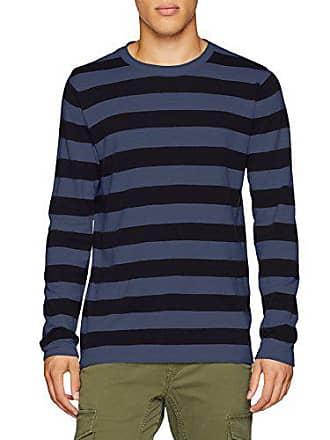 Jones Knit X Fit dark Mehrfarbig Fit amp; Neck Crew Herren Jack large Pullover Jorflux Denim knit 5pTWw
