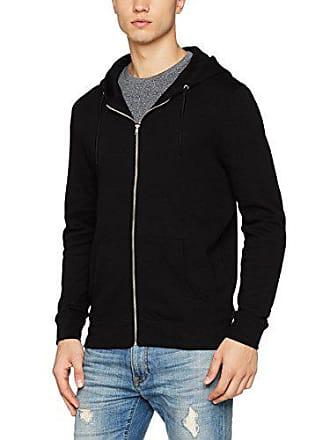 Zip Homme Capuche New Shirt Thru À Look Sweat Noir black 0qxfaa6w