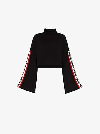 Sweater Side Black Logo Stripe Msgm wIxRFnqa15