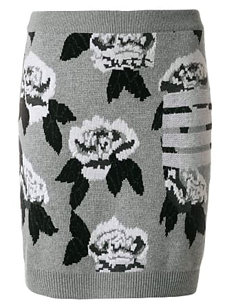 Skirt Mini Rose Thom Jacquard Browne Gris Boucle wq4ZEXxI