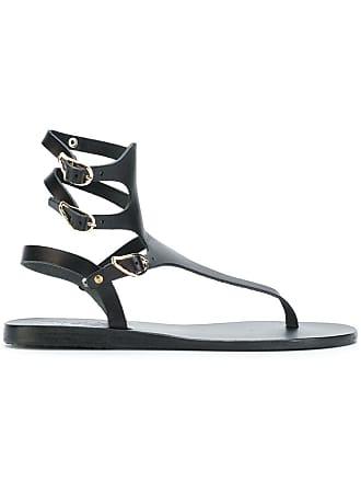 Ancient Sandals Greek Sandales Noir Themis HCqRYAqxw