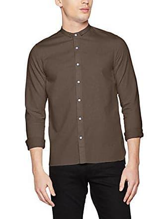 Mini Para Nowadays Shirt Braun tarmac 45 731 Camisa Hombre Collar Special PqnTf65xwa