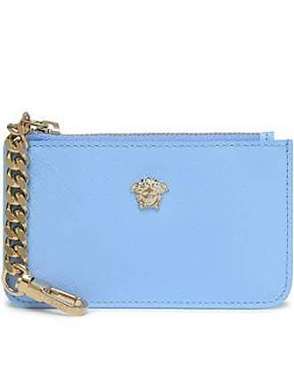 cuero de adornada Funda azul Versace de textura con tamaño XZx5xw