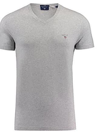 shirt Melange neck The Gant light Grey Camiseta 94 Gris V T Original Small Para Slim Hombre qwYgq4O