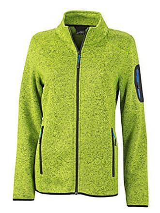 Blouson Femme James Fleece kiwi Vert Nicholson Jacke amp; Melange Knitted Jacket rfSrR