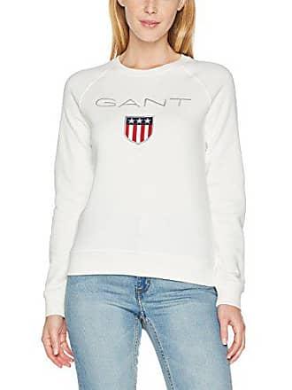Marfil Neck Gant eggshell Fabricante Sweatshirt Del Para Crew Shield Mujer Sudadera 10 talla Small 6w6q0n58x