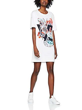 Para E36242 Versace Vestido Jeans bianco Couture M Ottico E003 Blanco Mujer Ed2hra463 wqqafXrU