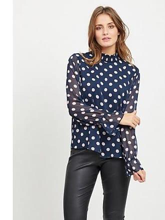Shirt Mouwen Vila Met Lange Gestippeld Hgaw5q7