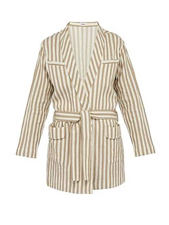 Striped RobeMens Cotton Blend Beige Commas PkXZiTuO