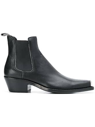 Logo Klein Noir Boots Cowboy Calvin Plaque 205w39nyc qUEnxS1TF