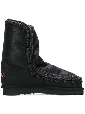 Mou Mou Whipstitched Noir Ankle Ankle Boots Mou Noir Boots Whipstitched Ankle Whipstitched p6wFZw