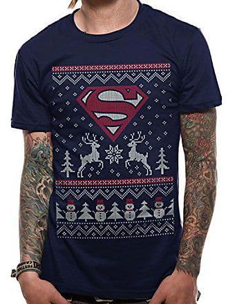shirt T Homme Superman T Snowman And Blue Bleu Small navy Reindeer fqR6Xg