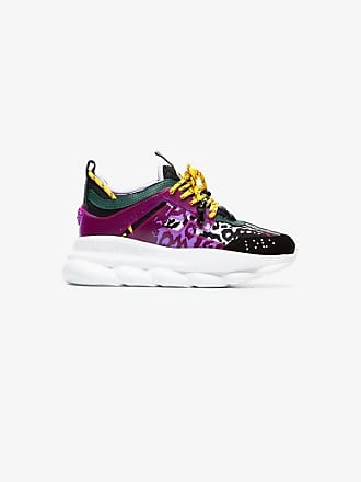 Versace Chain Reaction Leather Trainers Chain Leather Versace Reaction zP8znfFx
