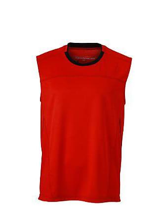 Shirt Hombre Extra A Maglia Maniche Running amp; James Nicholson large Lunghe Rojo Tank Mens negro Ewqxavp