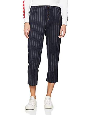 blue Pantalones Mujer Pinstripe Button Azul Front New 14 talla Look Fabricante Pattern Para W31 Del xqIC58Y