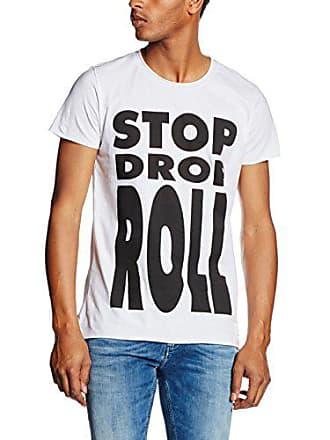 Calvin bright Klein L Para White Hombre Drop Mw Tee Stop Blanco Jeans Ss Slim Camiseta Roll OCdanOqr