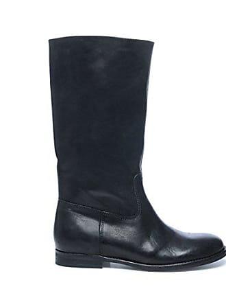 Hohe Schuhe Leder Stiefel Sacha Schwarz Damen wE6xqapB