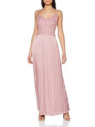 Maxi Fiesta Pleats pink Mistress With Blush Para 40 Little 001 Rosa De Satin Embroidered Dress Vestido Mujer qISn0v