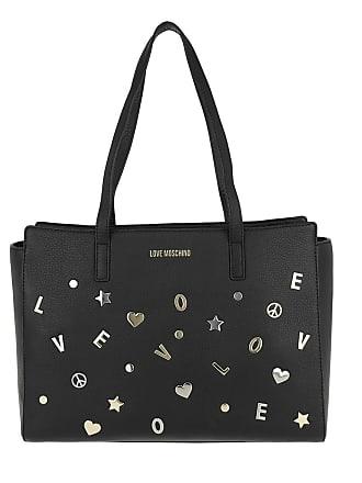 Vitello Tote Grain Nero Schwarz Love Moschino Shopping Bag wgWzq7