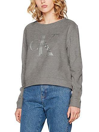 Klein Sweat True Shirt Gris mid Calvin Harper Log Icon Jeans Femme TdwqtUY