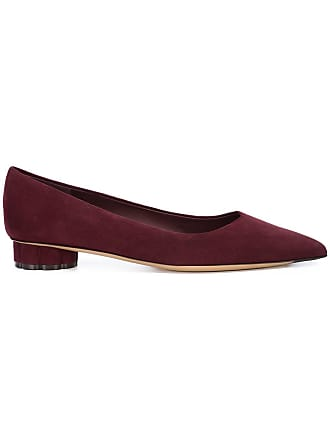 Ballerina Rouge Salvatore Pointed Shoes Classic Ferragamo OXwqw1Bt