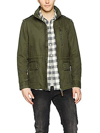 Washed Tommy olive 27 Large Larga Night Hombre Verde Jeans Chaqueta Field Manga Jacket BEESq