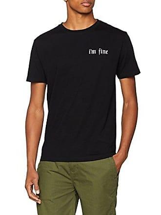 shirt black Wood T Noir Homme L Fine EHnTngqWB
