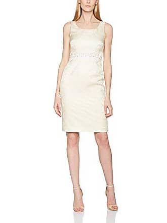 Gina ivory Bacconi Metallic Jacquard Marfil Artex Beaded Mujer 42 Para Vestido rA1rTxR