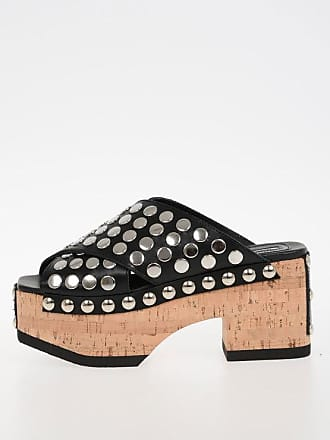 Cork Alexander Mcqueen 36 Mcq Studded Leather Size Wedge Paloma Shoes RR4Cfqg