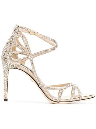 Keira Métallisé amp; Gabbana Sandales Strassées Dolce 8wxOT