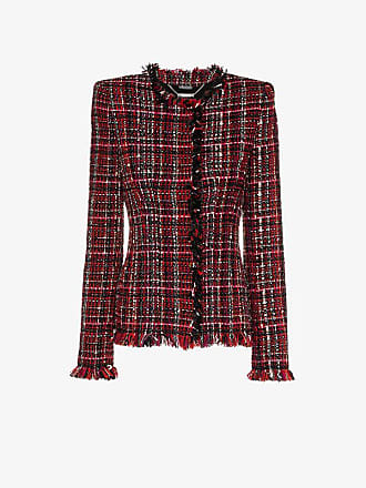Jacket Alexander Tweed Mcqueen Long Tailored Sleeve xAzqBn