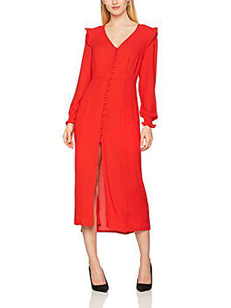 60 Plain Look bright Rouge shirt Button Through Femme Longues 38 Red New Manches T 5qdU7F7vw