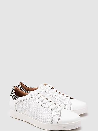 Back Sneaker White Mit Weiß Next Aus Leder With Signature Zebra Schnürung xvn71