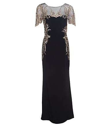 a60ead8441d0e Marchesa Notte By Marchesa Black Silk Lurex Floral Embroidered Evening Gown  S