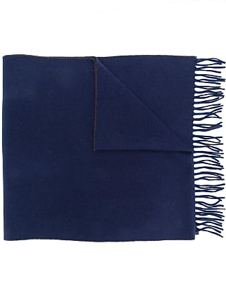Brunello Cucinelli two tone fringed scarf - Azul