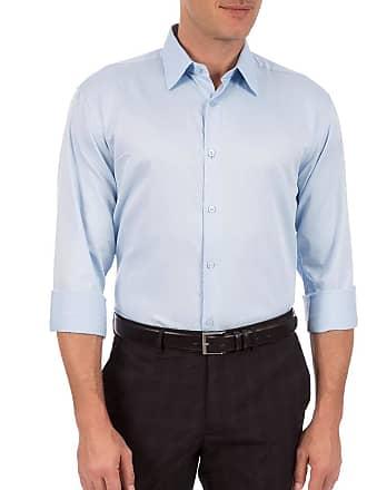 Colombo Camisa Social Masculina Azul Lisa 44083 Colombo
