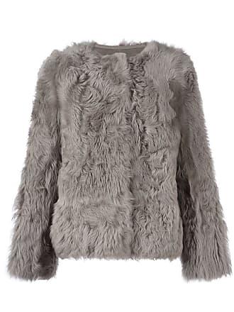 Yves Salomon collarless jacket - Cinza