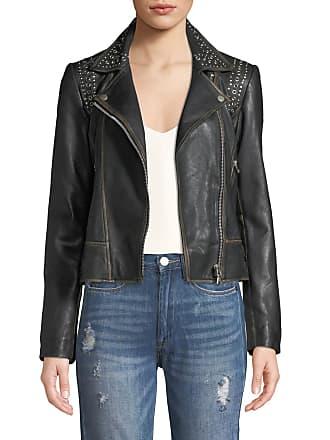 Bagatelle Studded Leather Biker Jacket