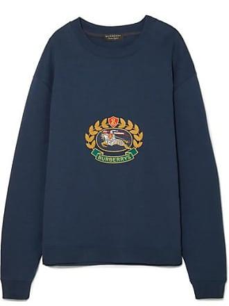 03a1e3ee7bb7 Burberry Besticktes Sweatshirt Aus Jersey Aus Einer Baumwollmischung - Navy