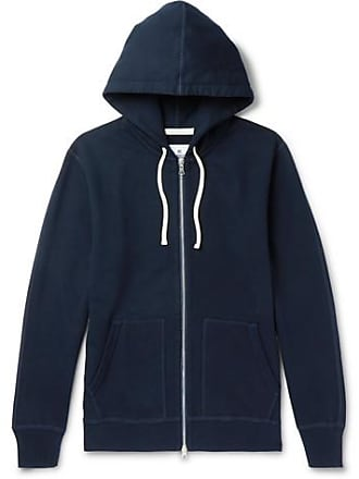 55a1dc7182 Reigning Champ Loopback Cotton-jersey Zip-up Hoodie - Midnight blue