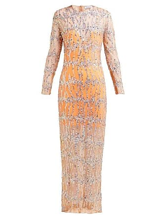 52f2c12f Ashish Sequinned Round Neck Maxi Dress - Womens - Beige