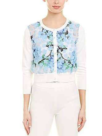 Karl Lagerfeld Womens 3D FLORAL APPLIQUE CARDIGAN, Periwinkle Multi, X-Small