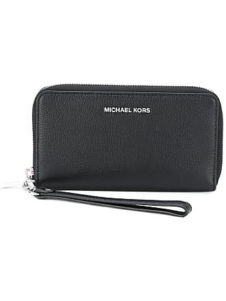 Michael Michael Kors Carteira de couro com logo - Preto