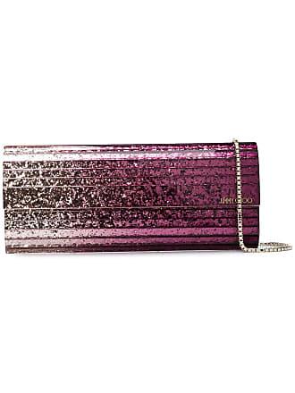 Jimmy Choo London Bolsa clutch degradê Sweetie com brilho - Rosa