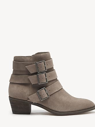 Sole Society Womens Nelmaeya Multi Buckle Bootie New Taupe Size 6.5 Suede From Sole Society