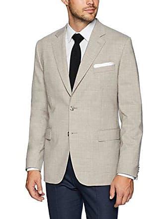 J.Lindeberg Mens Tech Wool Blazer, Oxford tan, 50