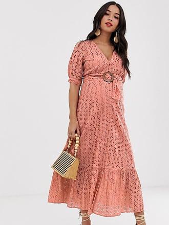 c65cf59cd0fa1 Asos Maternity ASOS DESIGN Maternity broderie pephem maxi dress with wooden  belt