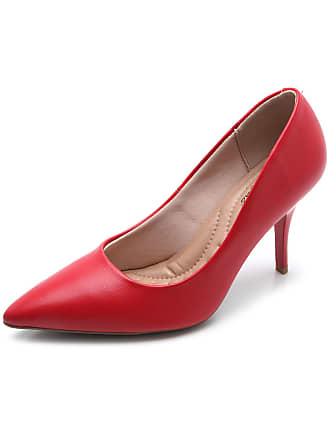 ed01360f79 Vermelho Scarpins De Couro  25 Produtos   com até −70%